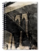 Brooklyn Bridge Reflection Abstract Spiral Notebook