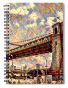 Brooklyn Bridge Watercolor Spiral Notebook