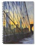 Brooklyn Bridge Wires Spiral Notebook