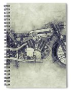 Brough Superior Ss100 - 1924 - Motorcycle Poster 1 - Automotive Art Spiral Notebook