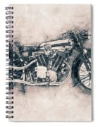 Brough Superior Ss100 - 1924 - Motorcycle Poster - Automotive Art Spiral Notebook