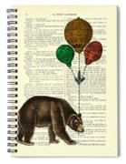 Brown Bear With Balloons Spiral Notebook