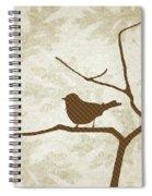 Brown Bird Silhouette Modern Bird Art Spiral Notebook