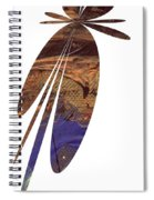 Brown Butterfly Spiral Notebook