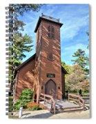 Brown Church Autumn 2 Spiral Notebook