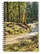 Brown Dirty Road Under Spring Sun Rays Spiral Notebook