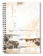 Brown Gray Abstract 12m4 Spiral Notebook