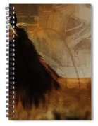 Brown Horse Pose Spiral Notebook