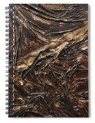 Brown Lace Spiral Notebook