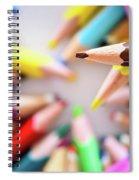 Brown Pencil Spiral Notebook