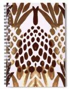 Brown Pineapple Spiral Notebook