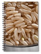 Brown Rice In Bowl Spiral Notebook