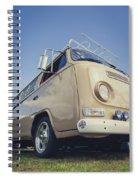 Brown Vw T2 Camper Van Spiral Notebook