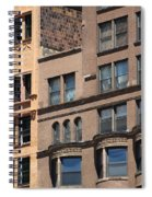 Brownstone Buildings In Chi Town Spiral Notebook