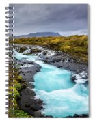 Bruarfoss In The Gloom Spiral Notebook