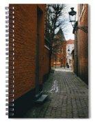 Bruges Orange Street Spiral Notebook