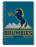 Brumbies Rugby Spiral Notebook