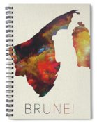 Brunei Watercolor Map Spiral Notebook