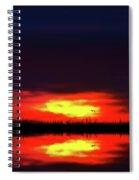 Brush Fire Sunset Spiral Notebook