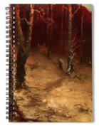 Brushwood Collector Bordering The Woods Spiral Notebook