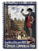 Brussels Commercial Fair Poster - Retro Poster - Vintage Travel Advertising Poster Spiral Notebook