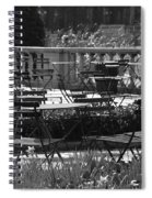 Bryant Park In Black And White Spiral Notebook