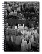 Bryce Canyon In Black And White Spiral Notebook