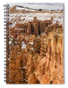 Bryce Canyon Winter Panorama - Bryce Canyon National Park - Utah Spiral Notebook