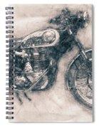 Bsa Gold Star - 1938 - Motorcycle Poster - Automotive Art Spiral Notebook