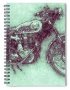 Bsa Gold Star 3 - 1938 - Motorcycle Poster - Automotive Art Spiral Notebook