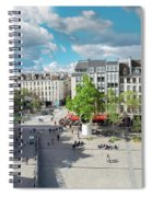 Georges Pompidou Square Spiral Notebook