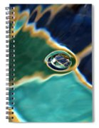 Bubble In The Fountain Spiral Notebook