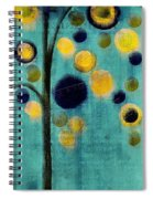 Bubble Tree - 42r1-cb4 Spiral Notebook