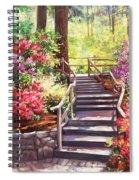Buchart Garden Stairway Spiral Notebook