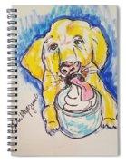 Buckett List For Dogs Spiral Notebook