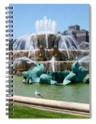 Buckingham Fountain Spiral Notebook
