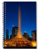 Buckingham Fountain Nightlight Chicago Spiral Notebook