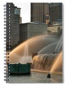Buckingham Fountain Sidelight  Spiral Notebook