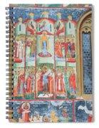 Bucovina Monastery Fresco Spiral Notebook