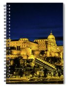Buda Castle At Night Spiral Notebook