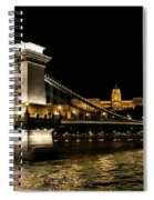 Chain Bridge And  Buda Castle  Spiral Notebook