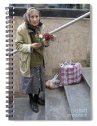 Budapest Flower Woman Spiral Notebook