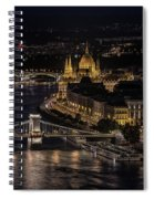 Budapest View At Night Spiral Notebook