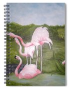 Buddah And The Flamingos Spiral Notebook