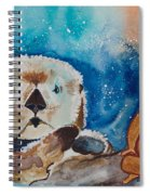Buddha And The Divine Otter No. 1374 Spiral Notebook