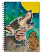 Buddha And The Divine Wolf No. 1370 Spiral Notebook
