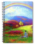 Buddha Chakra Rainbow Meditation Spiral Notebook