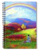 Buddha Chakra Rainbow Meditation Spiral Notebook