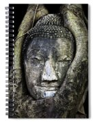 Buddha Head In Banyan Tree Spiral Notebook
