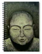 Buddha In Green Spiral Notebook